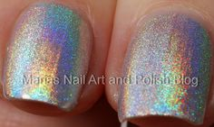 Marias Nail Art and Polish Blog: Silver holographic polish comparison: China Glaze, Sally Hansen, Color Club, Chanel and 2 x Gosh