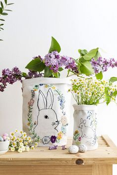 Sweet Tidings: Embroidered bunny fabric bucket DIY from Marie Claire Idees Orange Pastel, Simple Mandala, Fluffy Bunny, Idee Diy, String Lights Outdoor, Easter Celebration, Spring Art, Cute Diys, Blossom Flower
