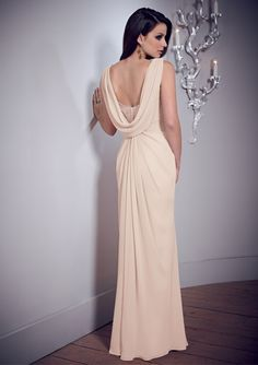 Wholesale Cowl Neck and Back Floor Length Peach Formal Long Fashion Evening Dresses -in Evening Dresses from Weddings & Events on Aliexpress.com   Alibaba Group