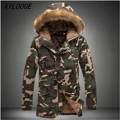 42.32$  Watch here - http://aliatx.worldwells.pw/go.php?t=32748829938 - L16 Fashion Camouflage Parkas Men Military Medium-long Winter Coat Men Thickening Cotton-padded Winter Jacket Men With Fur Hood