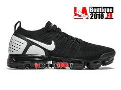 Nike Air VaporMax Flyknit 2.0 2018 Noir Blanc 942842-010 Chaussure de Running  Nike 3156853140a9