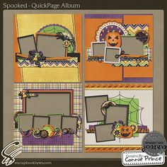 Holloween scrapbook pages   Halloween page layouts