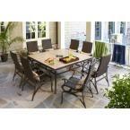 $1300 Hampton Bay Pembrey 9-Piece Patio Dining Set with Lumbar Pillows-HD14216 - The Home Depot