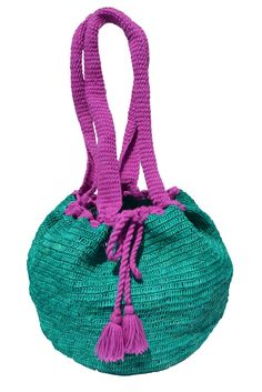 HIPPIE BEACH BAG by PRYMAL  100% handmade  Toquilla Straw + Wool