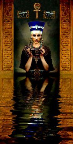 Queen Nefertiti, Samurai, Egypt, Empire, Painting, Art, Art Background, Painting Art, Kunst
