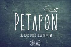 Petapon Font + BONUS by YandiDesigns available for $12.00 at FontBundles.net