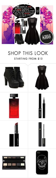 """""""We're all monsters // We trade our secrets when it's safe our ammunition when the fever breaks // Heaven or Hell By Digital Daggers"""" by lost-girl-reily ❤ liked on Polyvore featuring DKNY, Elizabeth Arden, Giorgio Armani, Witchery and Lancôme"""