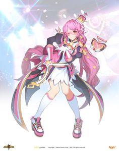 그랜드체이스 카페톡 My Character, Character Design, Naruto, Female Characters, Fictional Characters, Elsword, Anime Art Girl, Magical Girl, Pose Reference