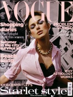 Keira Knightley covers Vogue UK July 2004    photo by Tesh