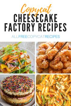 From decadent cheesecake recipes to warm pasta dishes and classic appetizers, these copycat Cheesecake Factory recipes are what you've been craving! Louisiana Chicken Pasta, The Cheesecake Factory, Cheesecake Factory Four Cheese Pasta Recipe, Pasta Recipes, Appetizer Recipes, Dinner Recipes, Cooking Recipes, Fondue Recipes, Meal Recipes