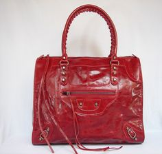 Balenciaga giant red weekender bag...