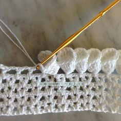 Crochet Petal Cone Edging - Tutorial