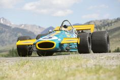 1970 Brabham-Cosworth BT33 was a F1 car intended for Jochen Rindt, who decided to stay at Lotus. Jack Brabham's was going to retire but won the first race of the season, silencing those who felt he was too old to compete. 2993cc DOHC DFV V8 Cosworth engine, 4 twin carburettors, 430hp at 10,000RPM, 5-Speed transaxle.  Brabham, the only man to win the F1 World Championship in a car he designed & built himself.