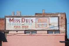 For feed, seed and stuff you need. Brilliant. Clarksdale, October 2012.