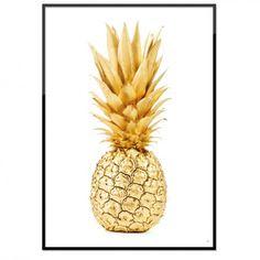 Poster - Gyllene ananas