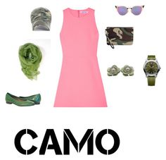 """""""camo"""" by maria-l-v on Polyvore featuring moda, Elizabeth and James, Yves Saint Laurent, Fendi, Victorinox Swiss Army y camostyle"""