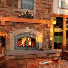 The Napoleon High Country™ 3000 wood fireplace is the smaller version in the powerful High Country™ Series. The High Country™ 3000 offers superior, heavy duty boiler plate steel and full refractory li Country Fireplace, Rustic Fireplaces, Home Fireplace, Fireplace Design, Gas Fireplaces, Fireplace Ideas, Contemporary Fireplaces, Electric Fireplaces, Facades
