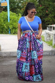 Vacation Style: Crop Tops | Maxi Skirts ~ Style Chic 360 #plussize#plussizeoutfits