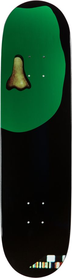 John Baldessari green nose skate deck