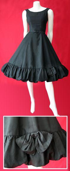 black 50s cocktail dress
