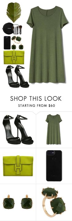 """""""Green"""" by avramraisa ❤ liked on Polyvore featuring Gucci, Gap, Hermès, Les Néréides, Chanel, Varaluz and GREEN"""