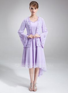 Mother of the Bride Dresses - $109.99 - A-Line/Princess V-neck Asymmetrical Chiffon Mother of the Bride Dress With Beading (008005645) http://jjshouse.com/A-Line-Princess-V-Neck-Asymmetrical-Chiffon-Mother-Of-The-Bride-Dress-With-Beading-008005645-g5645