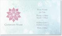 lotus massage Spot Gloss Business Cards