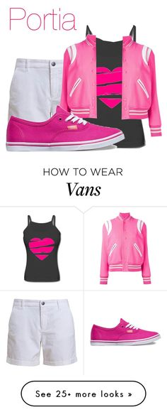 """Power Rangers: Lightspeed Rescue: Portia"" by dairyqueen55 on Polyvore featuring Barbour, Yves Saint Laurent and Vans"