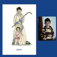 Javier es un espléndido jugador de Hockey