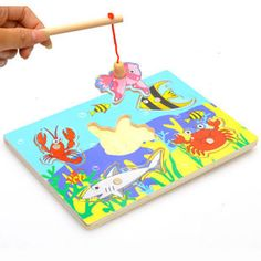 wholesale price Funny Wooden Magnetic board Fishing Game & Jigsaw Puzzle pizarra infantil Children Toy good gift for kids - Kid Shop Global - Kids & Baby Shop Online - baby & kids clothing, toys for baby & kid Wooden Toys For Toddlers, Wooden Baby Toys, Toddler Toys, Kids Toys, Puzzles 3d, Puzzles For Kids, Cool Gifts For Kids, Kids Gifts, Baby Gifts