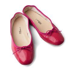 Кожаные балетки Porselli, вишневый цвет, кожаная подошва