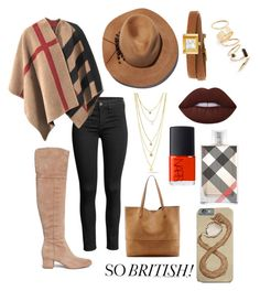 """Sem título #379"" by bia-melo ❤ liked on Polyvore featuring Burberry, Sam Edelman, Eugenia Kim, Gucci, BP., Lime Crime, Sole Society and NARS Cosmetics"