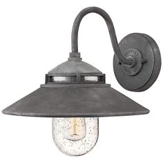 "Hinkley Atwell 11 3/4"" High Aged Zinc Outdoor Wall Light - #10R05 