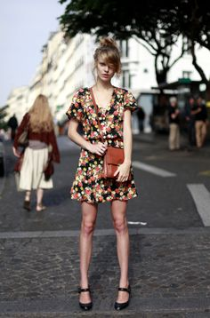 Like the cut of this dress + shoes