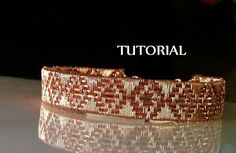 This Diamond Weave Copper Bracelet Tutorial includes 13 pages of step-by-step instructions as well as numerous clear, close-up photos.  It has been written for crafters who have some basic wire weaving knowledge, though, the instructions are very in-depth. The tools needed are:  18 gauge round copper wire 28 gauge round copper wire (for weaving) Chain and Round Nose Pliers Wire (Flush) Cutters Small Spring Clamp or Painters Tape Eye Protection  Optional: Bench Block & Chasing Hammer…