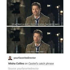 I like how they make sure you know it's Cas' voice.