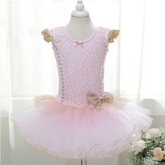 XTS Little Girls' Palace Ruffle Tutu Lace Bowknot Dress Party Dancewear, Little Girl Dancing, Little Girl Dresses, Girls Dresses, Flower Girl Dresses, Toddler Dance, Ballet Tutu, Ballet Dance, Winter Baby Clothes, Ballet Clothes