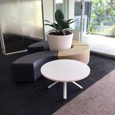 custom made ottoman - modular - custom upholstered Custom Desk, Office Furniture Design, Upholstered Ottoman, Commercial Furniture, Furniture Making, Lounge, Chair, Table, Projects