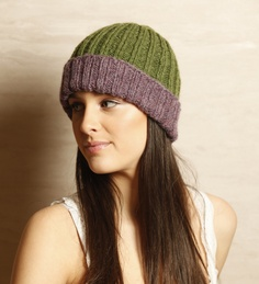 hand knitted hat of Alpaca wool