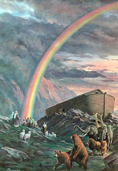 """Of all the people, only Noah's family was saved. The Bible says that when Jehovah gave Noah instructions to build an ark (it had NEVER rained), and told him to do a preaching work to save others, Noah """"did JUST SO."""" He was humble and obedient, and He respected Jehovah for he had never lied."""