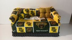 Baylor University, Baylor Bears Licensed College Fabric Tissue Box Cover/Kleenex Box Cover, Accessories on Etsy, $19.95