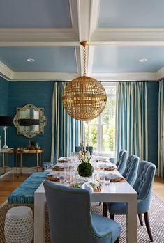 dining room // barbara page // hampton designer showhouse 2015 #dining #design #blue