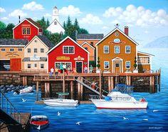 Merry Men of Swansea (Wilfrido Limvalencia) Folk, Swansea, Naive Art, Colorful Paintings, Beach Art, Smiley, Home Art, Original Paintings, Art Paintings