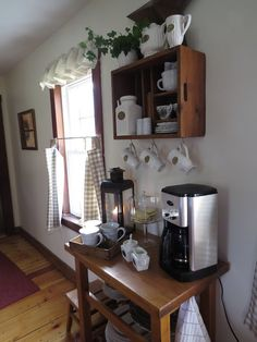 At Home Coffee Bar  I have fallen in love with the coffee bar idea!! So gonna do one In my nook corner!