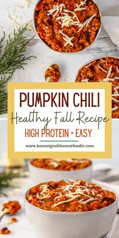 Time to add pumpkin into your chili because it is everything you have been missing! It is the perfect nutritious add in for our favorite classic chili. It is healthy, easy and high in protein.