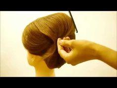 ZENのヘアセット講習14【夜会巻きの作り方】How to make a french twist. - YouTube