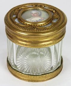 French Portrait Box, The Faceted Cylidrical Glass
