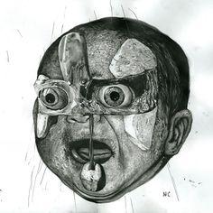 Nicola Alessandrini on Behance Italian Artist, Pop Surrealism, Halloween, Design Art, Skull, Behance, Artists, Cool Stuff, Drawings