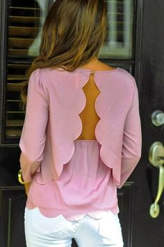 Attractive pinky shirt with white pant