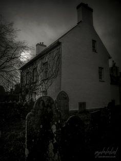 A Dark Eye Dark Eyes, Dark Places, Cemetery, Night, Houses, Painting, Art, Homes, Art Background